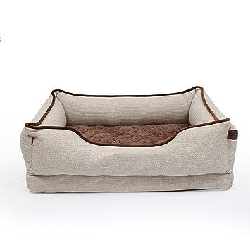 Casas para Perros Interiores Cama de Mascota Colchón Rectangular extraíble y Lavable Cama de Perro Universal