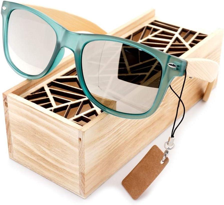 Gafas de sol de madera eco-friendly, lentes polarizadas gafas de sol de protección UV sombra espejo par mate sombrilla espejo nogal madera marco gafas para viajes ciclismo pesca playa (2 colores),D: Amazon.es: