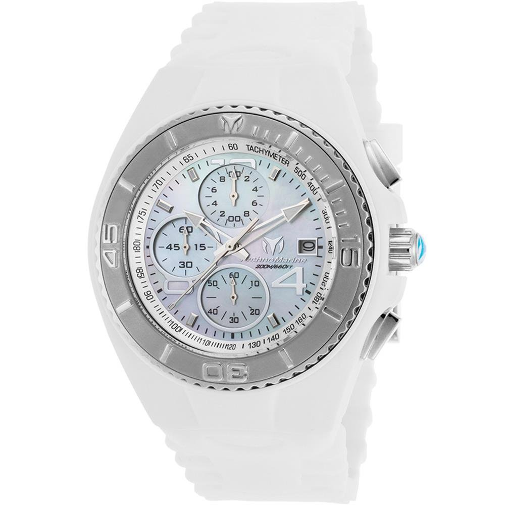 Amazon.com: Technomarine Mens Cruise Quartz Stainless Steel and Silicone Casual Watch, Color:White (Model: TM-115354): Watches