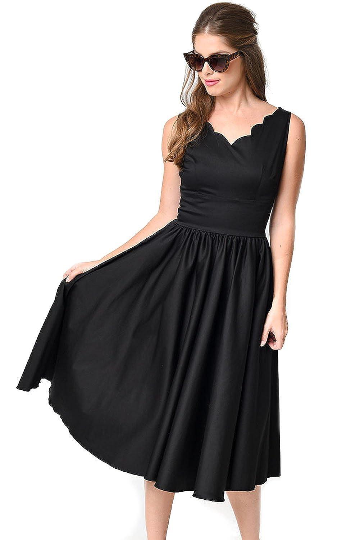 MAX MALL Damen Ärmellos Sommer Vintage kleid Cinched Taille Cocktailkleid Partykleid