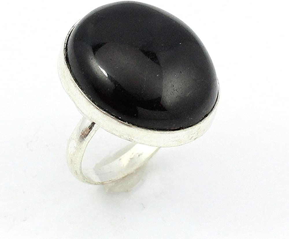Black Onyx Fashion Jewelry .925 Silver Plated Ring S12675