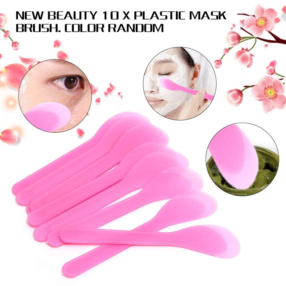 Botrong 10PCS Plastic Makeup Beauty DIY Facial Mask Brush Spoon Stick Tool Homemade