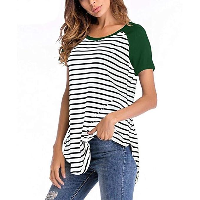 Casual Verano Tops Camisas Fit Túnica Blusas Slim Anchas Mujer Moda c54S3qLARj