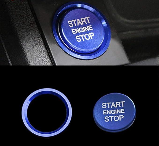 Emblem Trading Start Stop Ring Abdeckung Alu Blau Passend F/ür A4 B9 A5 F53 A6 C7 Q7 A7 A8