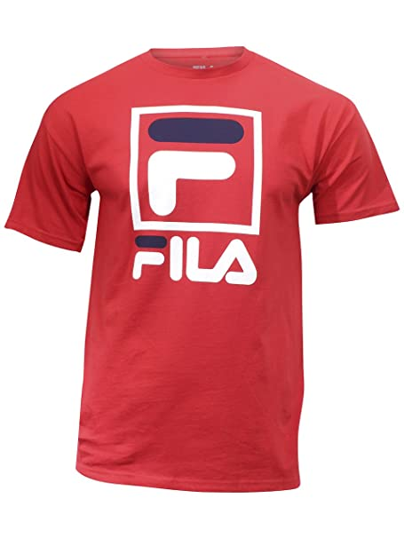 66c787d6cf9d Amazon.com  Fila Men s Stacked T-Shirt  Clothing