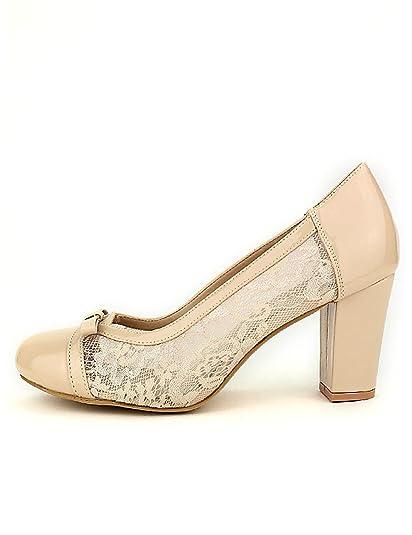 Mujer Tqschxbrd Zapatos Encaje Beige Cinks Cendriyonescarpin wOP0kn