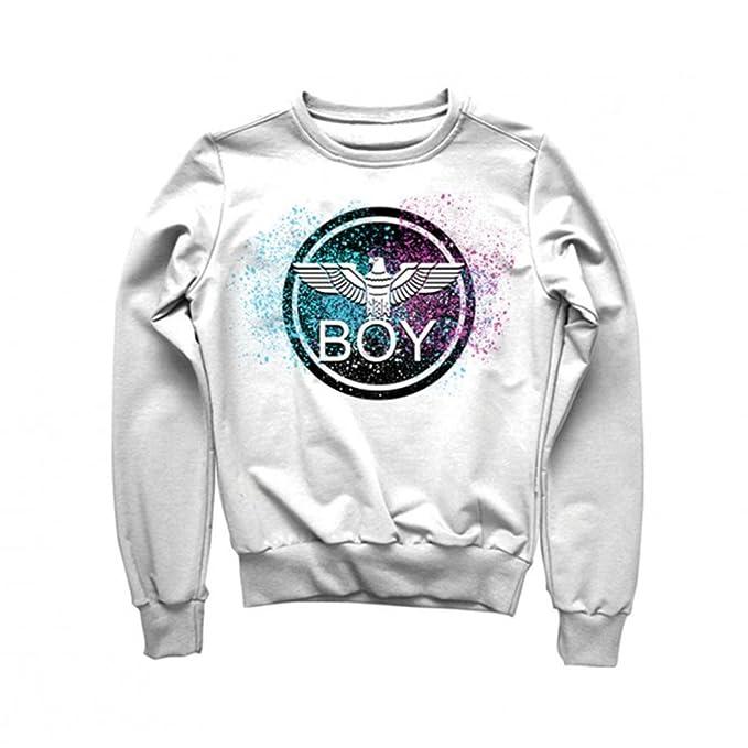 Boy London Felpa Maglia Uomo Boy Ragazzo Sport Jeans Logo Primaverile  BL1374 Taglia XL Colore Principale Bianco  Amazon.it  Abbigliamento 082dd90c3b6