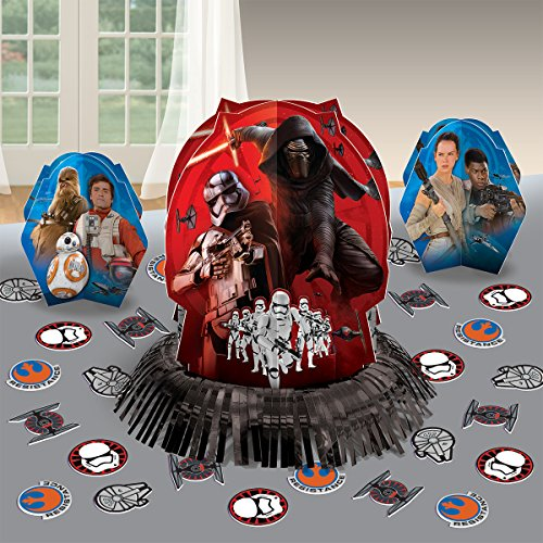 Amscan Star Wars Episode Vll Table Decorating Kit, Assortment of Sizes, Multicolor (AMI 281506)