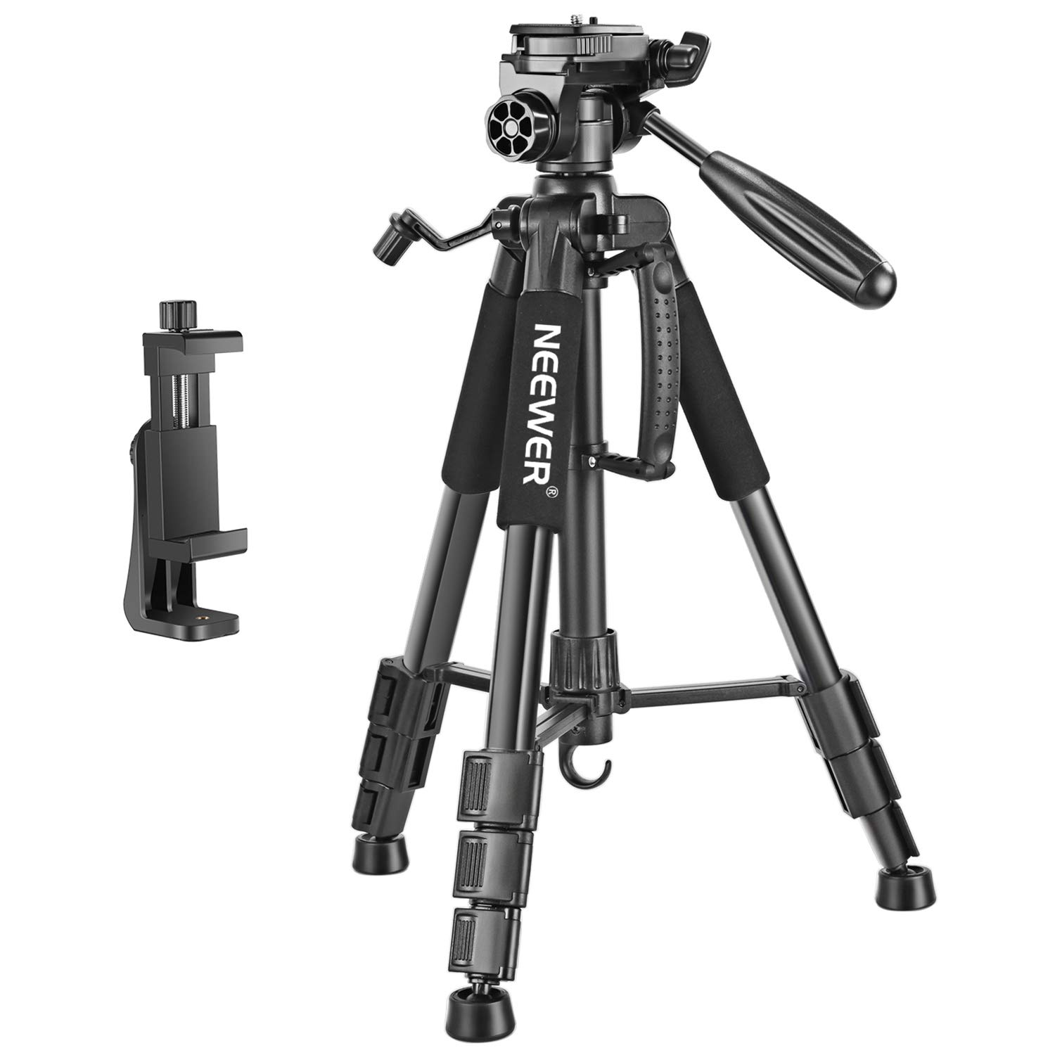 Neewer 56 inches Aluminum Camera Tripod with 3-Way Swivel...