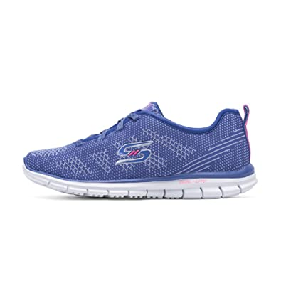 6d33ae817978 Skechers New Women s Glider Forever Young Sneaker Periwinkle 5.5