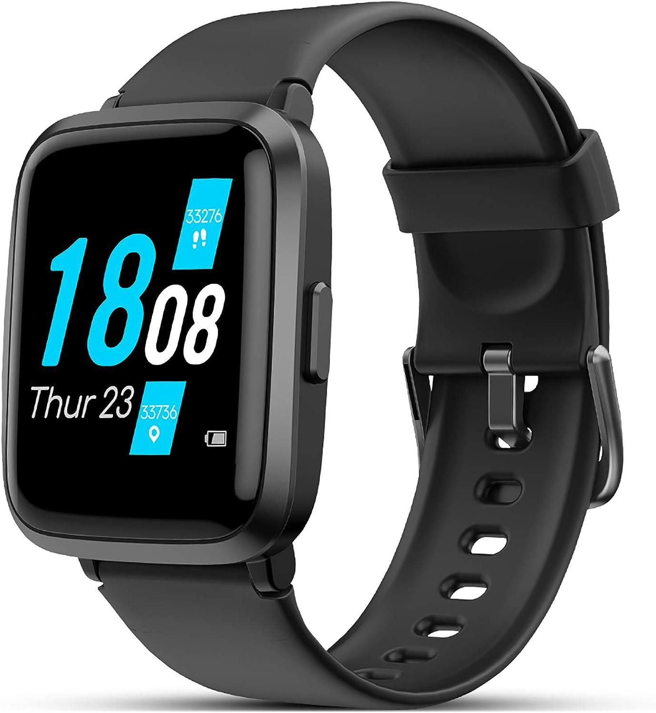 LIFEBEE Smartwatch, Reloj Inteligente Impermeable 5ATM Pantalla Táctil Completa con Pulsómetro Monitor de Sueño Podómetro Caloría Cronómetros, Pulsera Actividad Inteligente para Hombre Mujer niños: Amazon.es: Electrónica