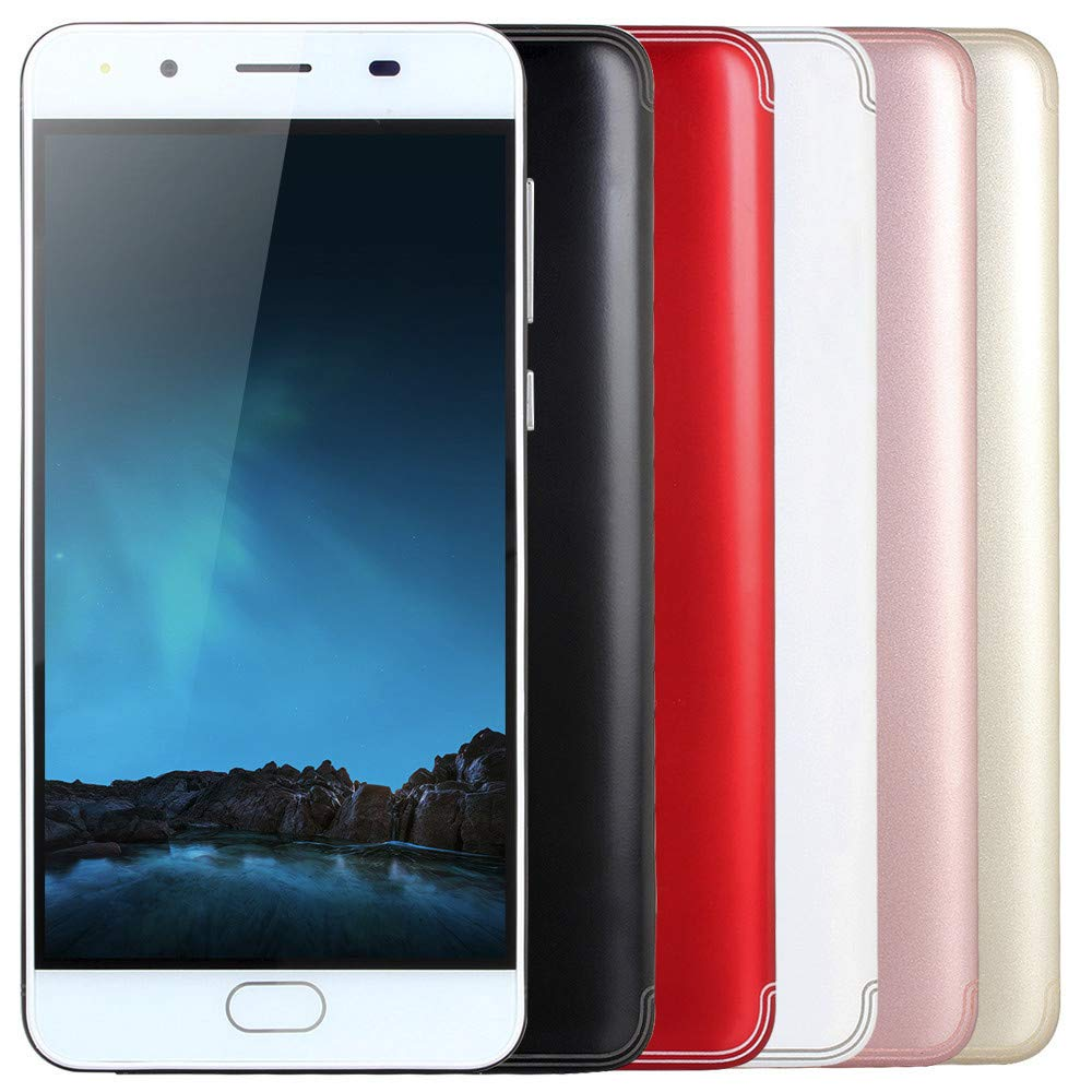 Smart Phone 5.0''Ultrathin Android 5.1 Quad-Core 512MB+4GB GSM 3G WiFi Dual Smartphone (Product Size: 144x71.8x8.8mm, White) by SUNSEE ELECTRONICS (Image #7)