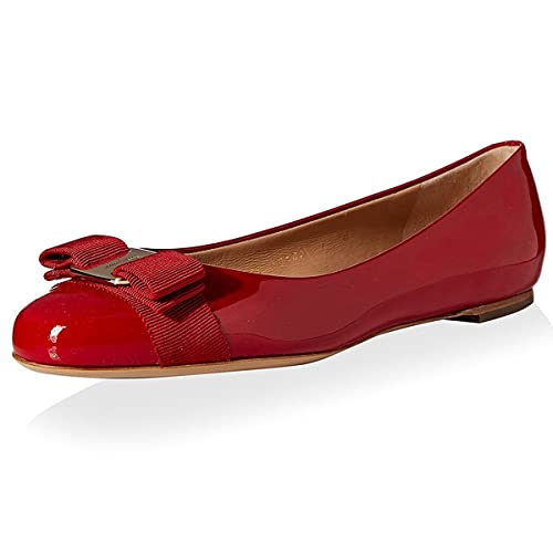 cb609374d3 Amazon.com | VASHOP Women's Varina Patent Leather Ballet Flats | Flats