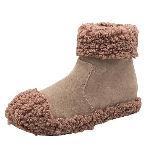 Botines Planos para Mujer Invierno PAOLIAN Zapatos Escolares Casual Moda Calzado de Terciopelo Suela Blanda Dama Otoño Botas de Nieve Clásicos Caliente ...