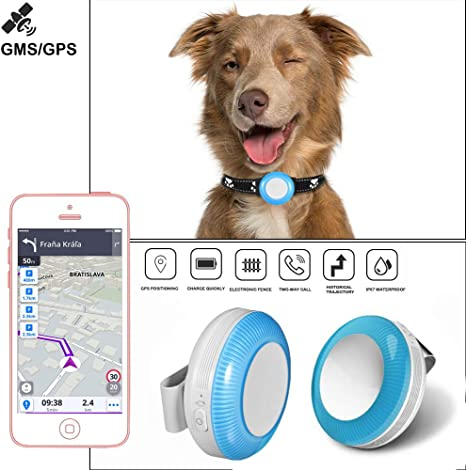 Remote Calling Real-Time Tracking Device Location Pet Tracking Device Pet Finder Locator GPS Dog Tracker Replaceable IP67 Tracking Collar Pet GPS Tracker for Dogs Smart Pet Tracker App Control