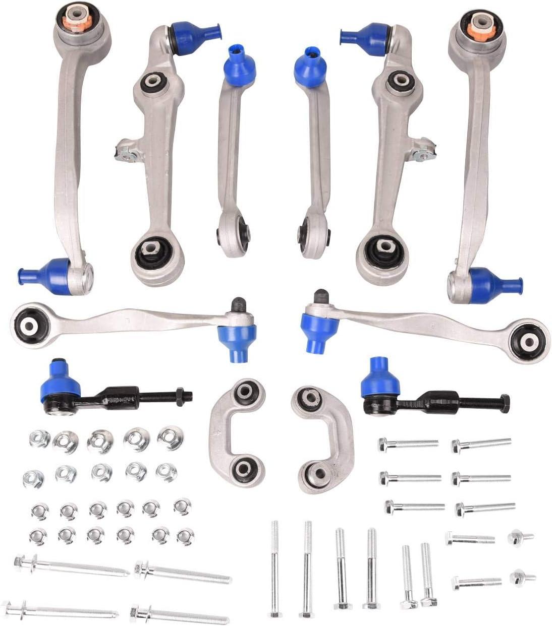 Bapmic 8D0498998S1 Front Suspension Control Arm Kit Compatible with 1996-2001 Audi A4 1998-2002 Audi A6 2000-2002 Audi S4 1998-2003 Volkswagen Passat Set of 12