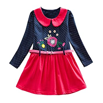 28ac5028a Amazon.com   Amaping Winter Toddler Girl Clothes Cotton Long Sleeve ...