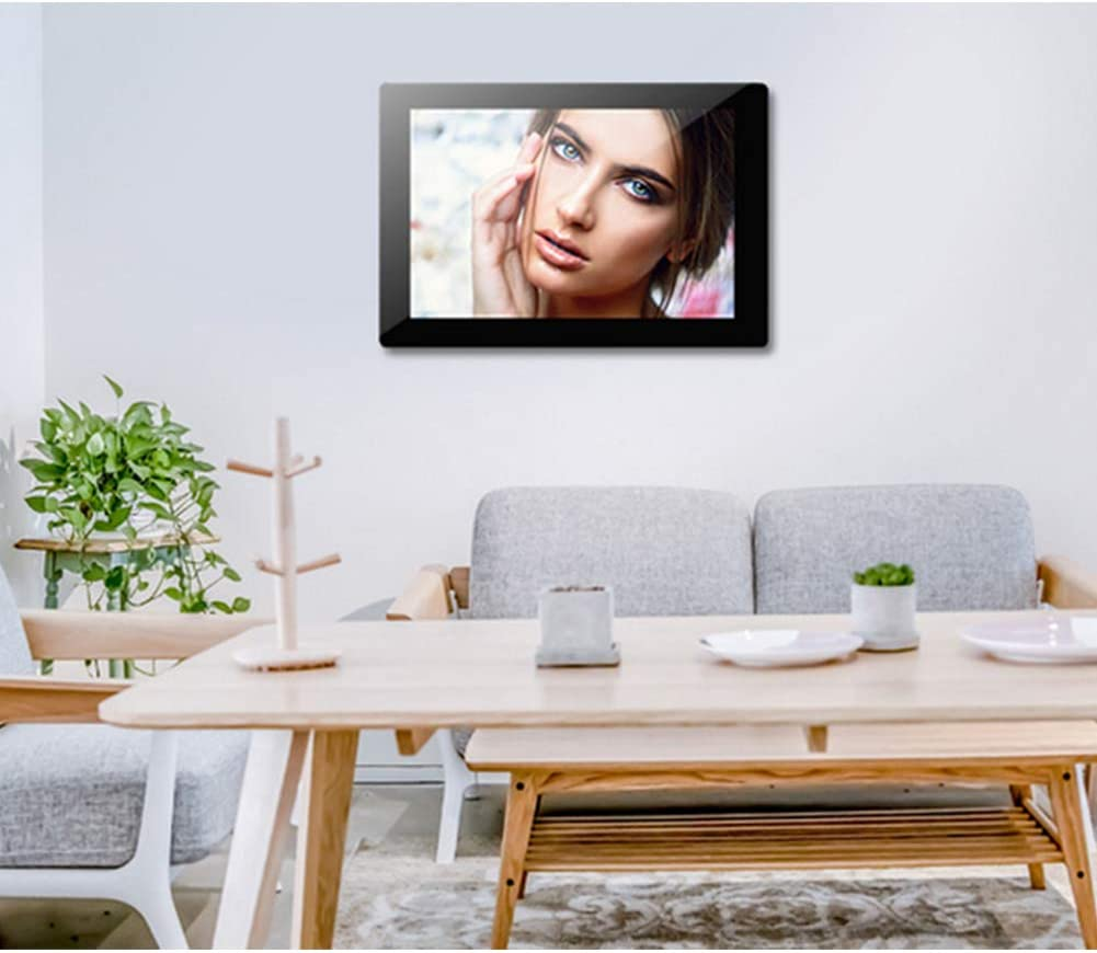 LRZ Digital Photo Frame,2019 Newest Design 14 inch 1280 x 800 High Resolution Full IPS Photo//Music//Video Player Calendar Alarm with Remote Control Digital Picture Frame,Black