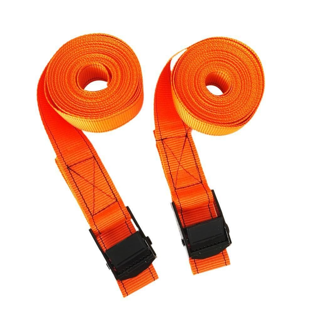 2Pcs 3.85m Cam Buckle Tie Down Straps Kayak Canoe Surfboard Roofrack Storage