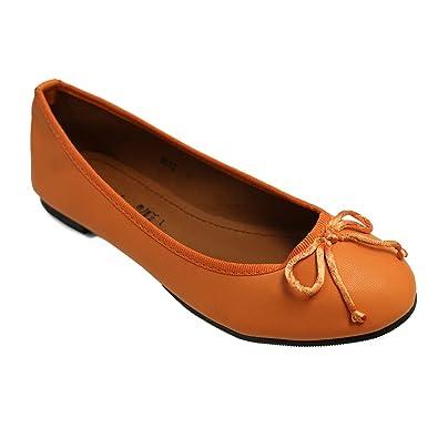 Lily Shoes Ballerines Oranges Avec Petit Noeud PWnZOpe