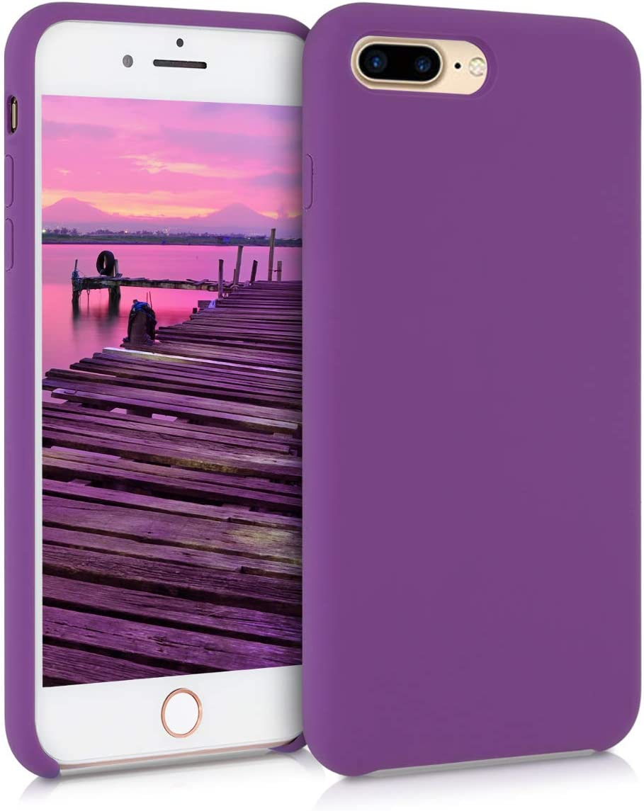 kwmobile TPU Silicone Case Compatible with Apple iPhone 7 Plus / 8 Plus - Soft Flexible Rubber Protective Cover - Pastel Purple