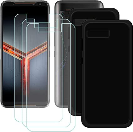 szjckj 2 x Funda para ASUS Rog Phone 2 + 3 x Protector de Pantalla ...