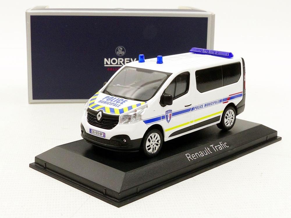 Bianco//Blu 518025 Norev/ Scala 1//43 /Traffico Polizia municipale 2014/Renault Veicolo in Miniatura