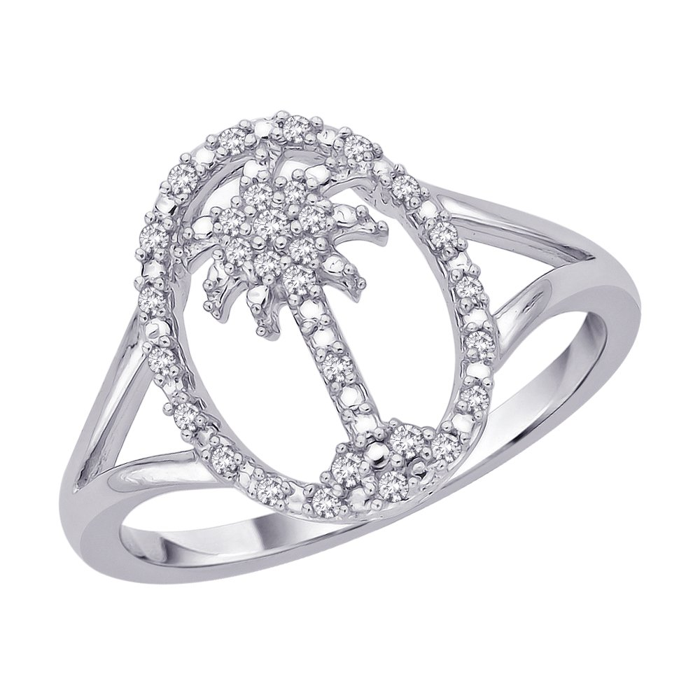 G-H,I2-I3 1//8 cttw, Size-5.25 Diamond Wedding Band in Sterling Silver