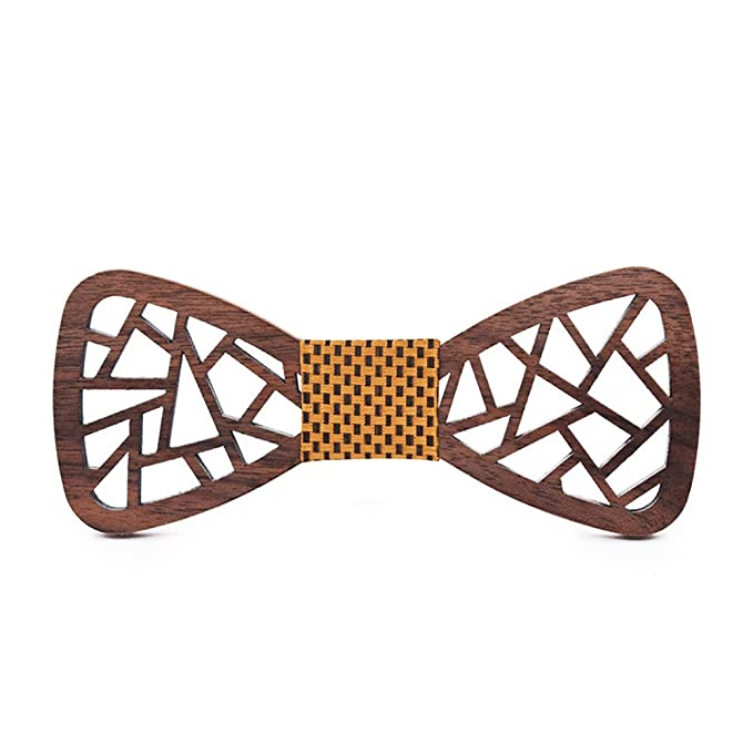 Corbata, 2019 hombres de madera de madera pajarita poligonal hueco ...