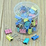 Ecosin Fashion 60x Colorful Metal Paper File Ticket Binder Clips 15mm Office School Supply Clip