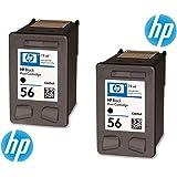 HP 56 Original Ink Cartridges in Foil Packaging (Pack of 2)