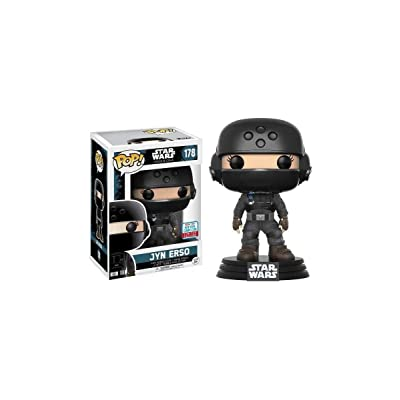 Funko – Star Wars Rogue One – Pop Vinyl Figure 178 Jyn Erso NYCC 2020 Convention Exclusives, 10 cm, 20119: Toys & Games
