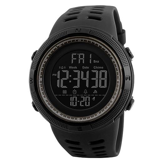 Reloj deportivo,Moda diseño fashion impermeable y cómodo multifunción resistente al agua reloj digital calendario digital alarma luminosa-A: Amazon.es: ...