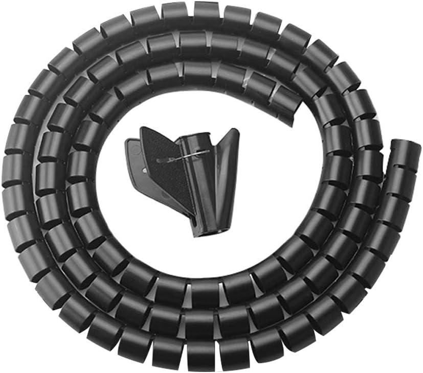Spiral manguera protección 20 m interior 27 mm pared de 2,5 mm de ancho 24 mm negro