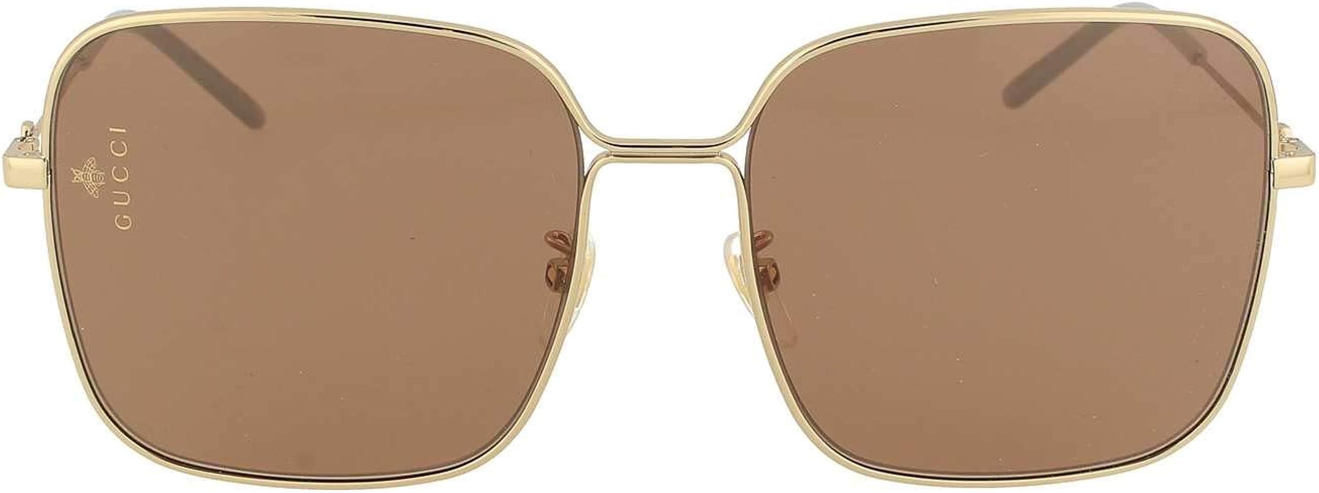 Amazon.com: Gucci GG0443S 002 Gold GG0443S - Gafas de sol ...