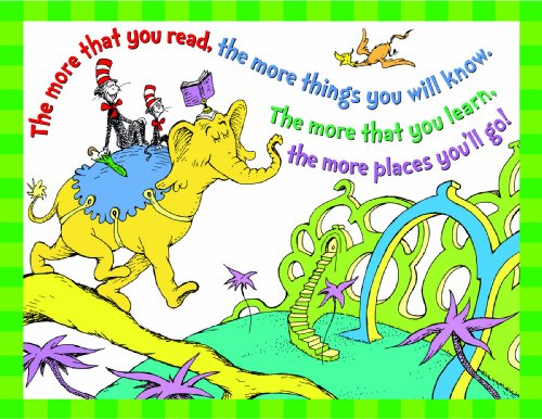 Eureka Dr.Seuss Cat in The Hat 'More You Read' Classroom, 17'' W x 22'' H