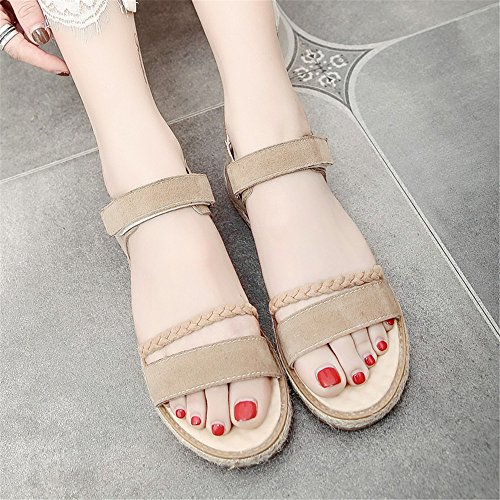XZGC Zapatos de tacón Mujer albaricoque