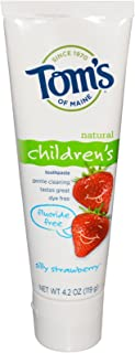 product image for Tom's of Maine Silly Strawberry Fluoride Free Kids Toothpaste 4oz toothpaste