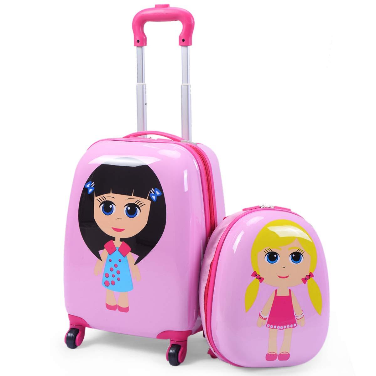 GOPLUS Valigia per Bambini con Zaino Bagaglio a Mano Piccolo Bagaglio per Viaggio