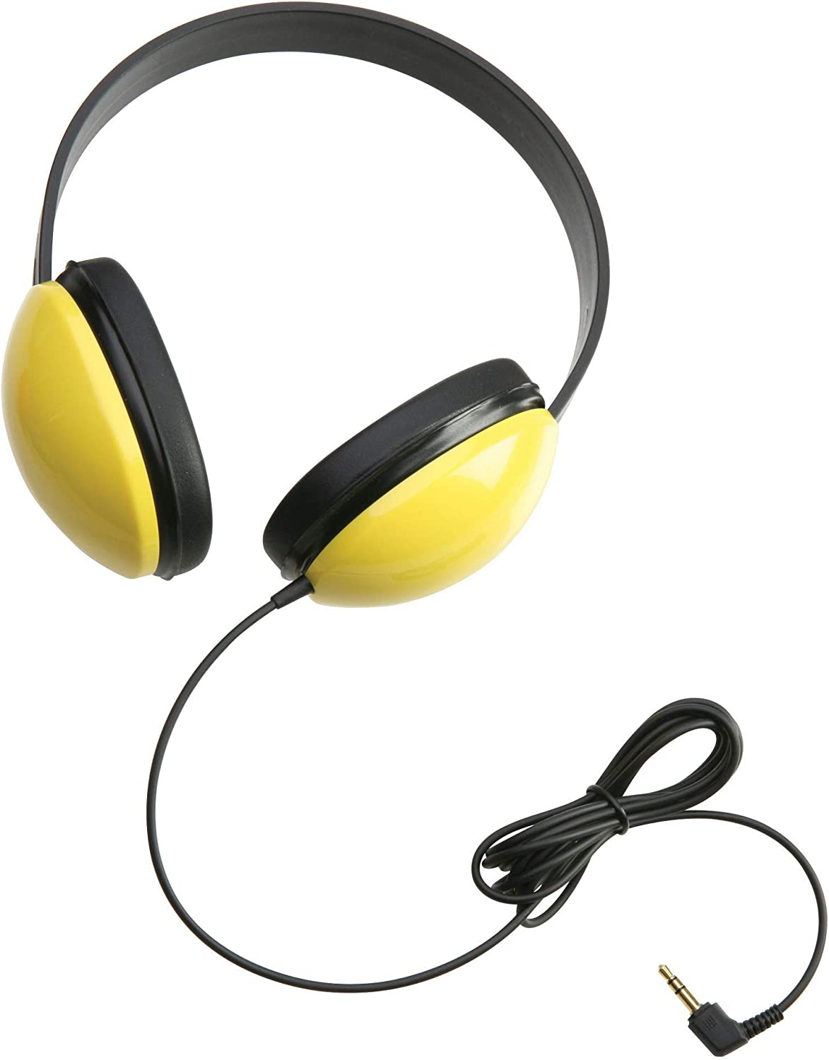 Califone Stereo Headphones for podcast listening is the yellow colour headphones for the podcast listening and also used for the gaming
