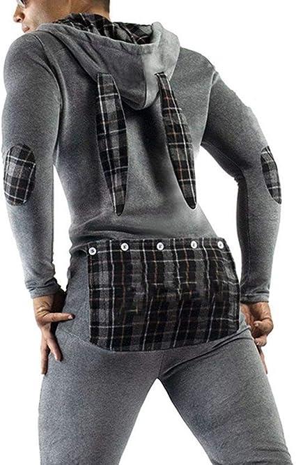 unisexe Grenouill/ère en coton pour homme combinaison /à capuche tout-en-un /à manches courtes couleur unie pour adulte
