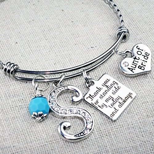 Wedding Gift For Aunt: Amazon.com: AUNT Of Bride Bracelet, Wedding Gift For Aunt