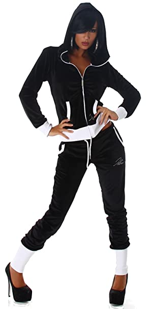 Jela London Damen Jogginganzug Jacke /& Hose mit Kapuze