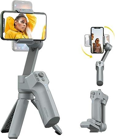 Todo para el streamer: MOZA Estabilizador de cardán de 3 Ejes para Smartphone Vlog Youtube Grabación de vídeo en Directo, Soporte Plegable, Control de cámara Nativo