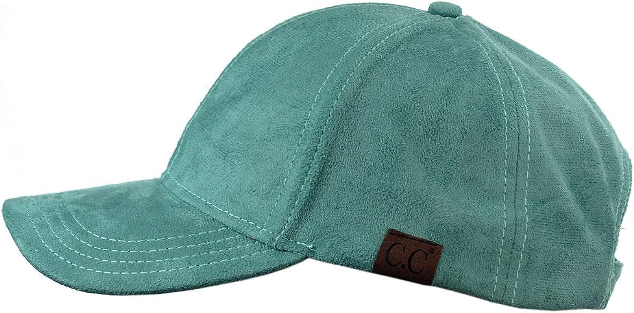 NYFASHION101 Unisex Adjustable Faux Suede Precurved Bill Baseball Cap Hat