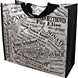 Gift House Sheet Music Collage Tote Bag (17.5'' L X 7.5'' W X 15.5'' H )