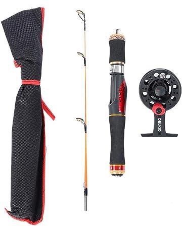 FANKUNYIZHOUSHI Portable Travel Fishing Rods Carbon Fiber Casting Fishing Rods Spinning Rods Metal