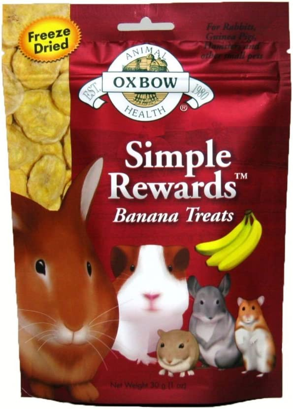 Oxbow Simple Rewards Baked Treats - Apple & Banana - 2 oz (2 Pack)
