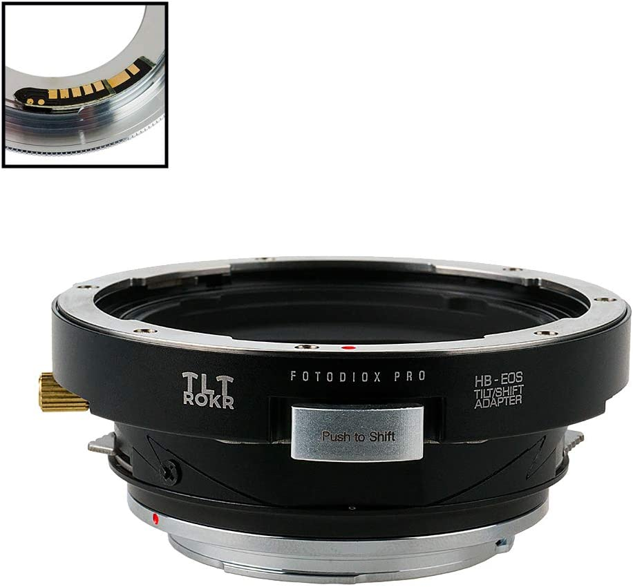 Fotodiox Pro TLT ROKR with Gen10 Focus Confirmation Chip EF, EF-S Mount D//SLR Camera Body Tilt//Shift Lens Mount Adapter Compatible with for Hasselblad V-Mount SLR Lenses to Canon EOS