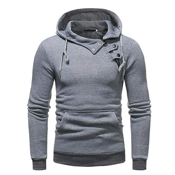 Btruely Herren_camisetas Sudaderas con Capucha para Hombre, Color Gris/Gris Oscuro, Talla M